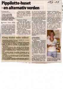 Scannet artikel - Pippilotte huset august 2007