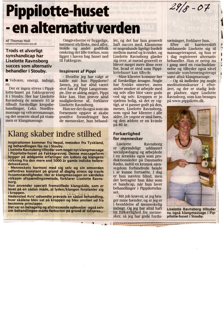 Scannet artikel - Pippilotte huset august 2007